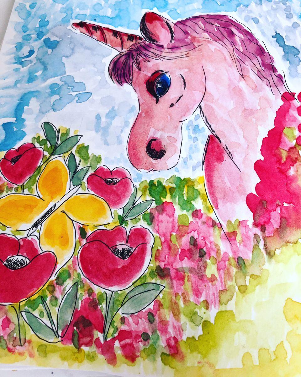 #unicorn #unicornlover #watercolourillustration #watercolor #art #fantasyart