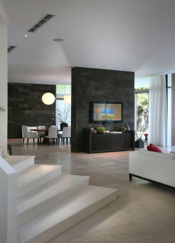 exklusive luxusvilla in miami- luxuriöse inneneinrichtung - wohnzimmer exklusiv einrichten