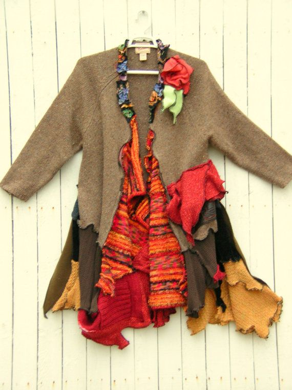 One of a Kind Bohemian Sweater Coat Reserved For by JacketsbyJahne, $82.00