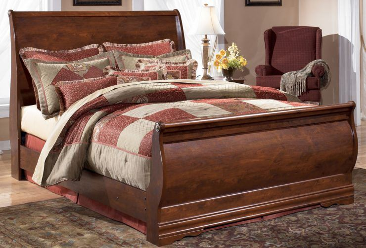 Wilmington King Size Sleigh Bed With Cool Design Queen Bedroom