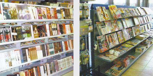Gondola con estantes para libro con inclinacion gondola - Estanterias metalicas para libros ...