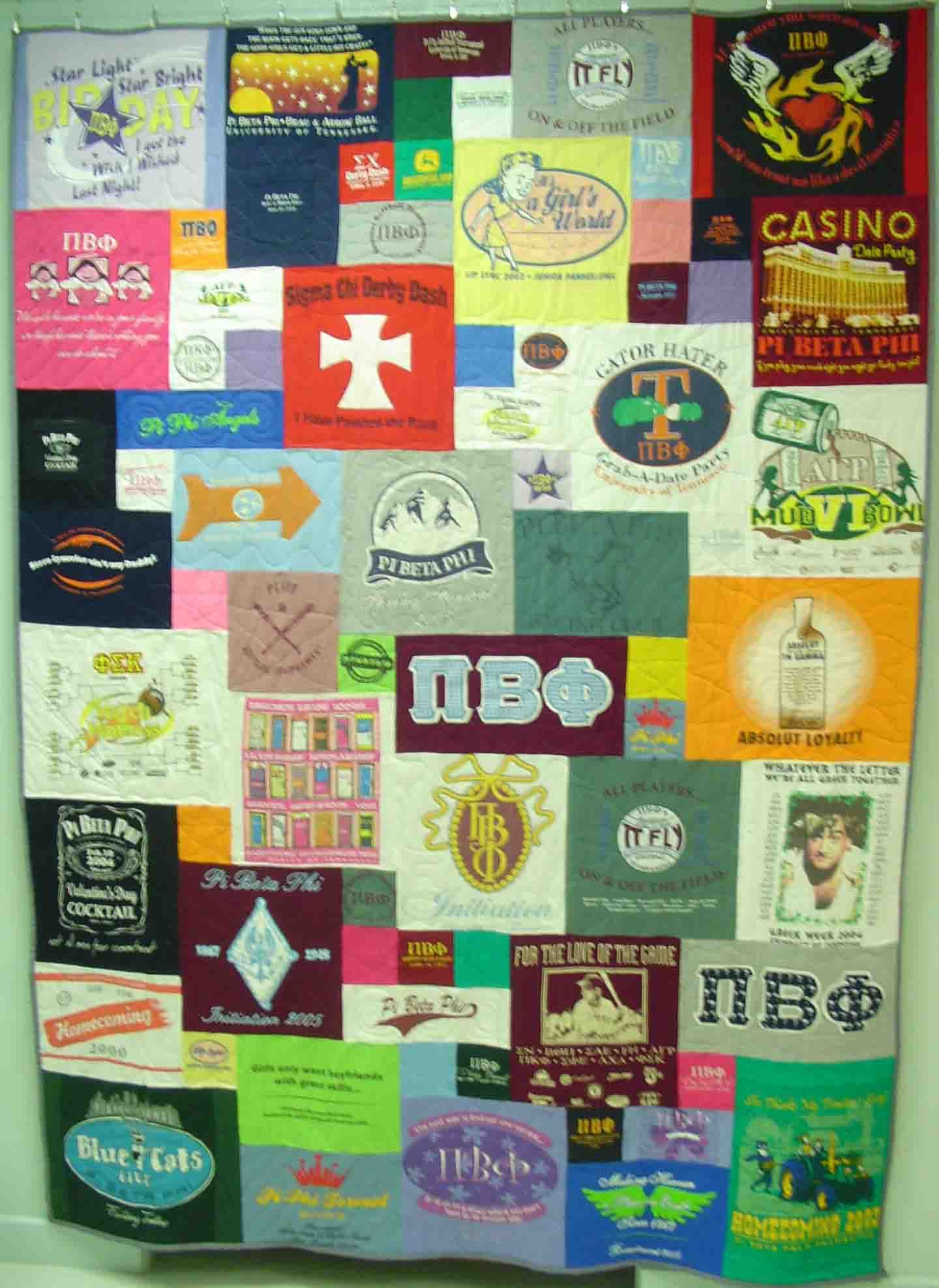 T-shirt quilt design instructions - My Summer Project Tshirt Quilt