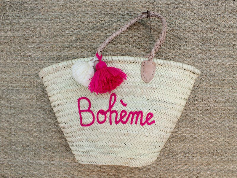 Panier de plage bohème - Maximom