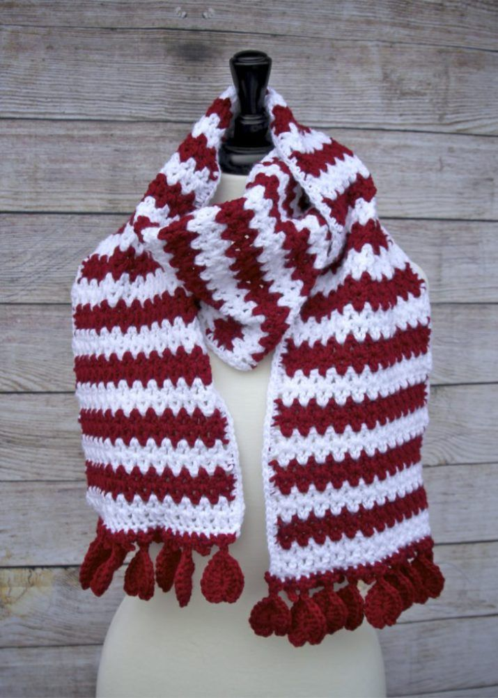 Hearts Aflutter Scarf Free Crochet Pattern With Easy V Stitch