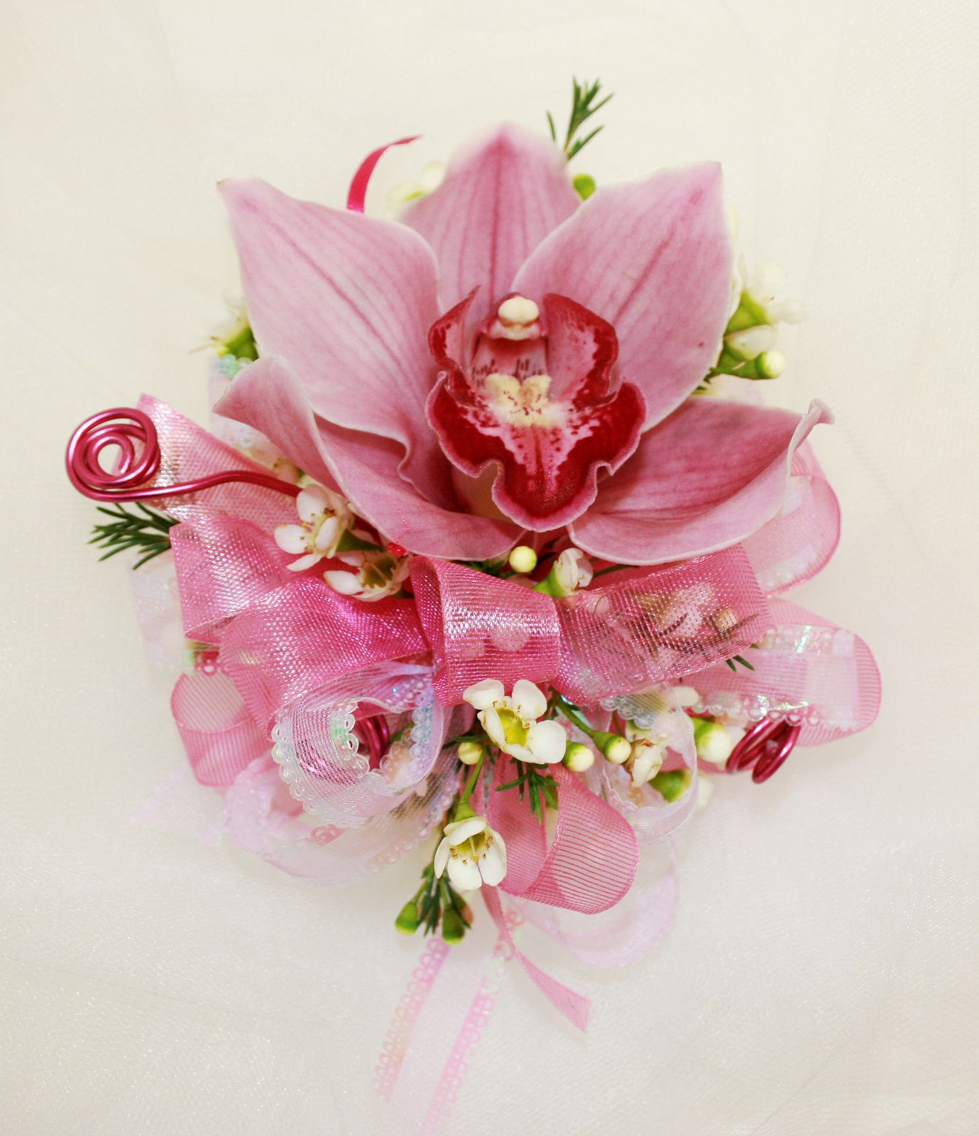 Cymbidium Orchid Wrist Corsages: Orchid Corsages, Corsage Wedding, Prom