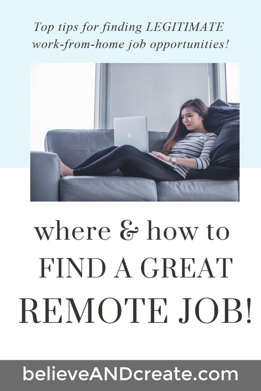 Where & How to Find a Remote Job (A Legitimate One