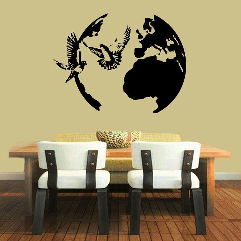 Birds Doves Flying Wall Stickers Vinyl Decals Peace Symbol Around ...