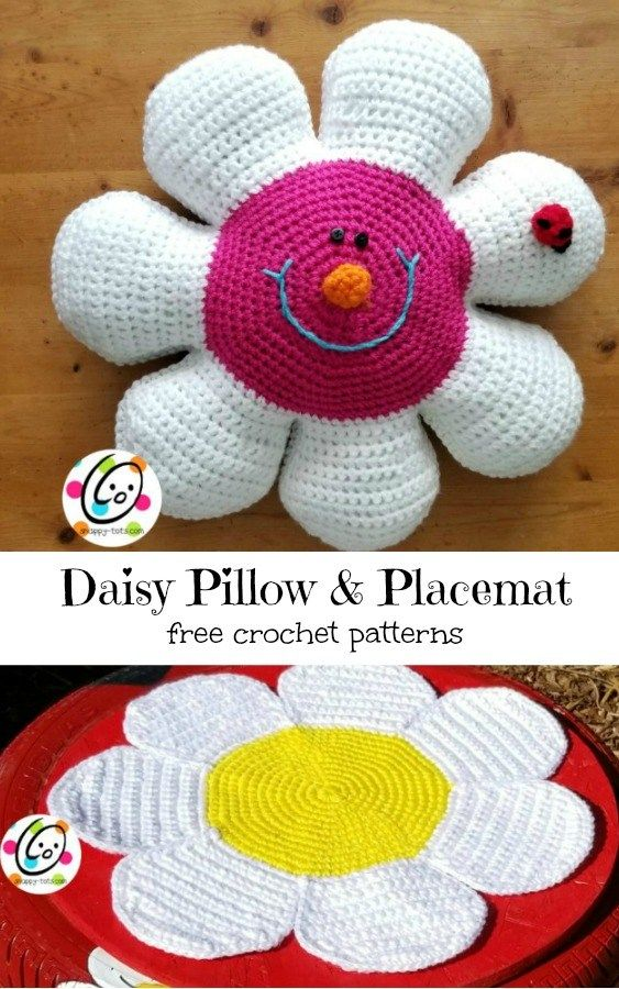 Free Pattern Daisy Pillow And Placemat Crochet Patterns For The