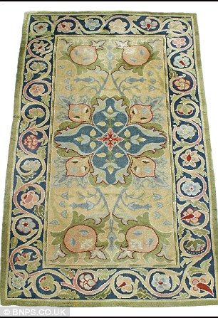 William Morris Rug Being Sold In Arts Crafts Auction The Uk