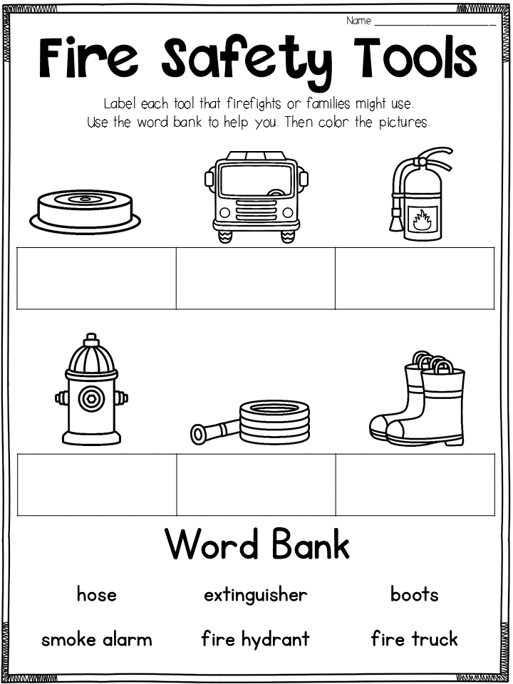 Fire Safety Printables Fire Safety For Kids Fire Safety Fire Prevention Week