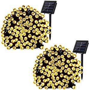 Weihnachtsbeleuchtung Außen Bogen.Solar Lichterkette Aussen Brizlabs 2 Pack 200 Led Außenlichterkette