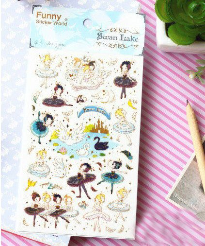 Aliexpress.com : Buy Lovely ballet Design PVC Decoration Sticker,Scapbook Gift Sticker 20packs/lot from Reliable stickers gsxr suppliers on ELSOL Fairy Store | Alibaba Group