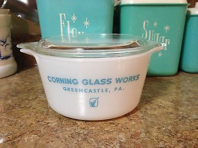 Rare Vintage PYREX Corning Glass Works Greencastle, PA Casserole 473 HTF