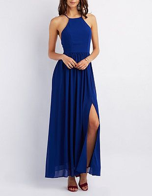 Bib Neck Maxi Dress #CharlotteLook | Charlotte Russe | The Dress ...