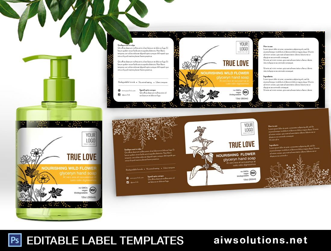 Hand Soap Label Template ID35 | Label Design | Soap labels