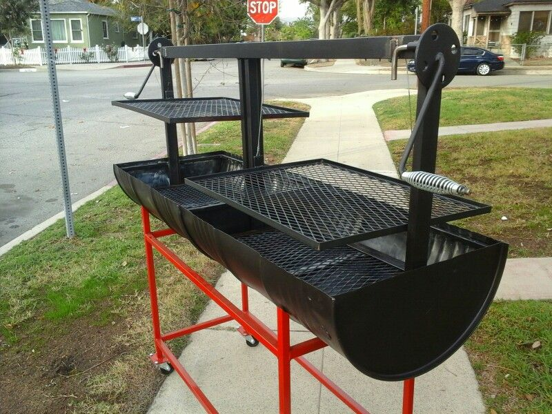 Santa Maria BBQ Grill For Sale. Freshly Made Out Of Food Grade 55 Gallon  Barrels
