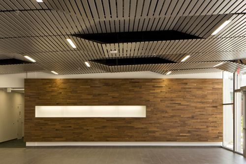 linear metal ceiling system by hunter douglas contract