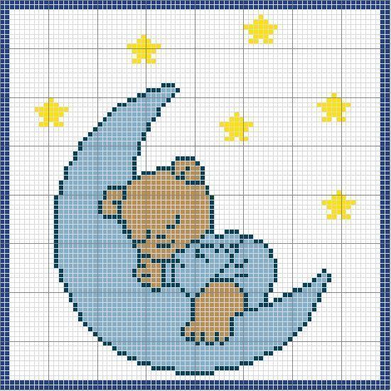 Photo of Cross Stitch Owl Cross Stitch, Cross Stitch Moon, Cross Stitch …
