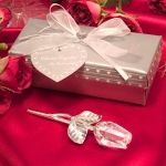 Crystal Long Stem Rose Favor