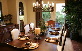 More Color Ideas Tuscan Style Dining Room Pinterest