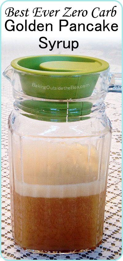 Zero Carb Golden Pancake Syrup Recipe Low Carb Sauces No Carb Diets Low Carb Pancakes
