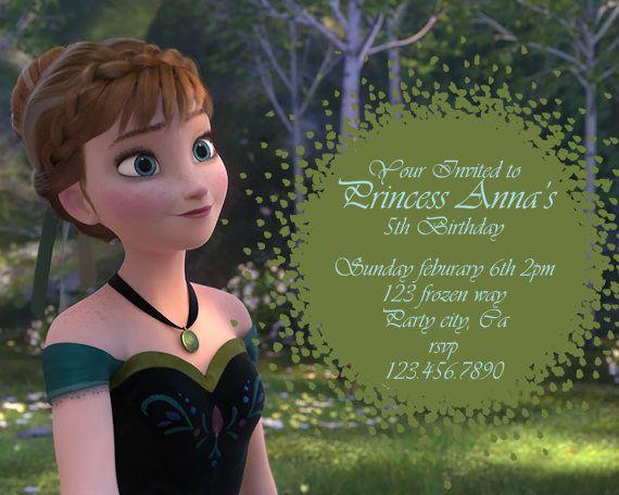 Frozen birthday invitation Disneyu0027s Frozen by GreyhoundGraphics - invitation birthday frozen