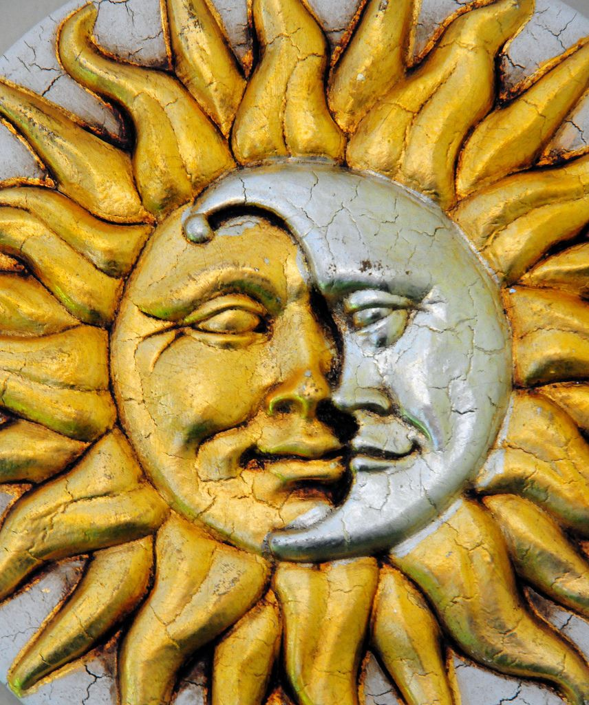 Sun Moon Face Wall Plaque from Venice Italy | Moon face and Moon