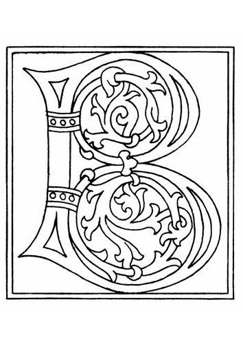 kleurplaat 01a alfabet b kleurplaten verlichte letters