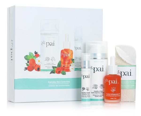 Give the gift of calm skin! Featuring three of Pai's most-loved bestsellers, our Everyday Hero Collection sets the foundations for healthy skin. Alcohol and de