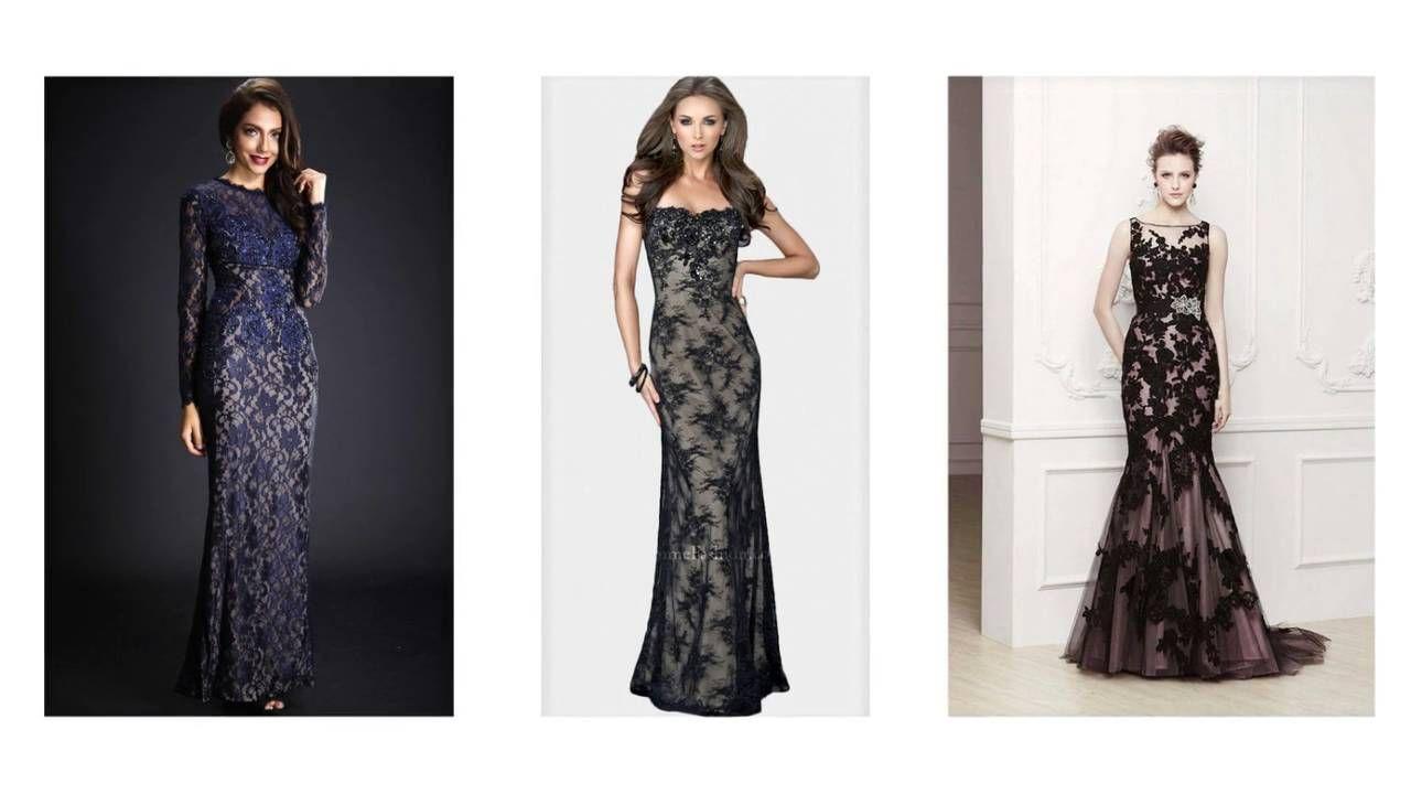 Abendkleider mit spitze, spitzenkleid lang, langes kleid ...