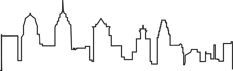Philly Skyline Sticker By Michellegriff90 Philadelphia Skyline Art Philadelphia Skyline Cute Small Tattoos