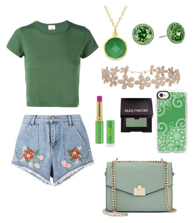 """""""🌴green🌴"""" by reginaest on Polyvore featuring moda, Humble Chic, RE/DONE, Jennifer Lopez, House of Holland, BillyTheTree, Nina, Tata Harper, Laura Mercier y Casetify"""
