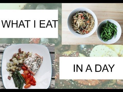 Watch Video on what I eat in a day to be healthy!