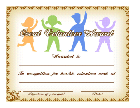 Editable volunteer certificates google search crafts for kids sample volunteer certificate template 10 free documents in pdf psd yelopaper Choice Image