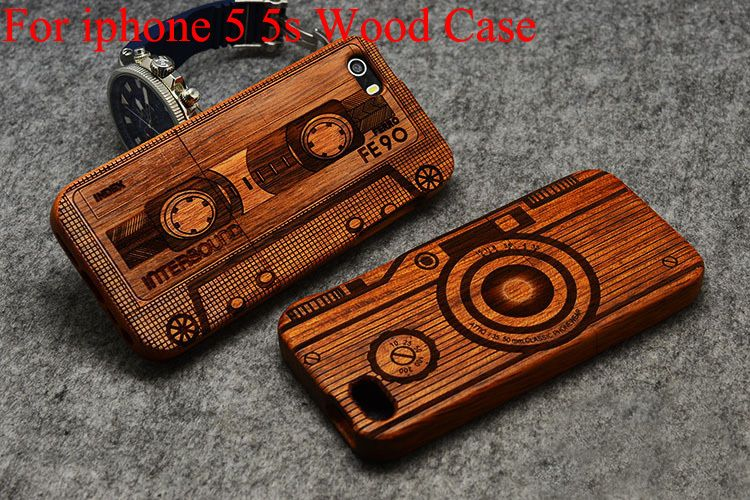 best sneakers 91ad1 c4345 High Quality Wood Case for iPhone 5s Wooden New Cover Natural Real ...