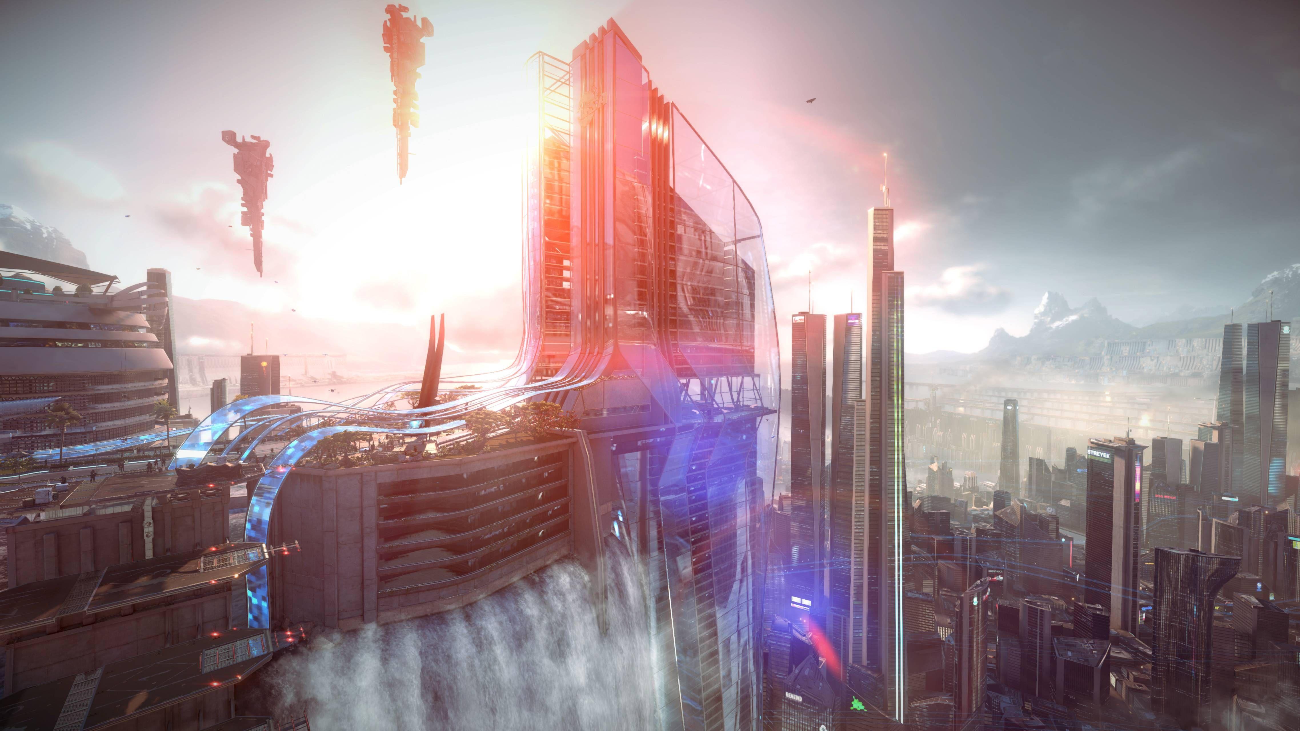 Cyber Punk Art Dumped  Cityscapes  Futuristic City, Fall -6280