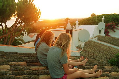 on the roof