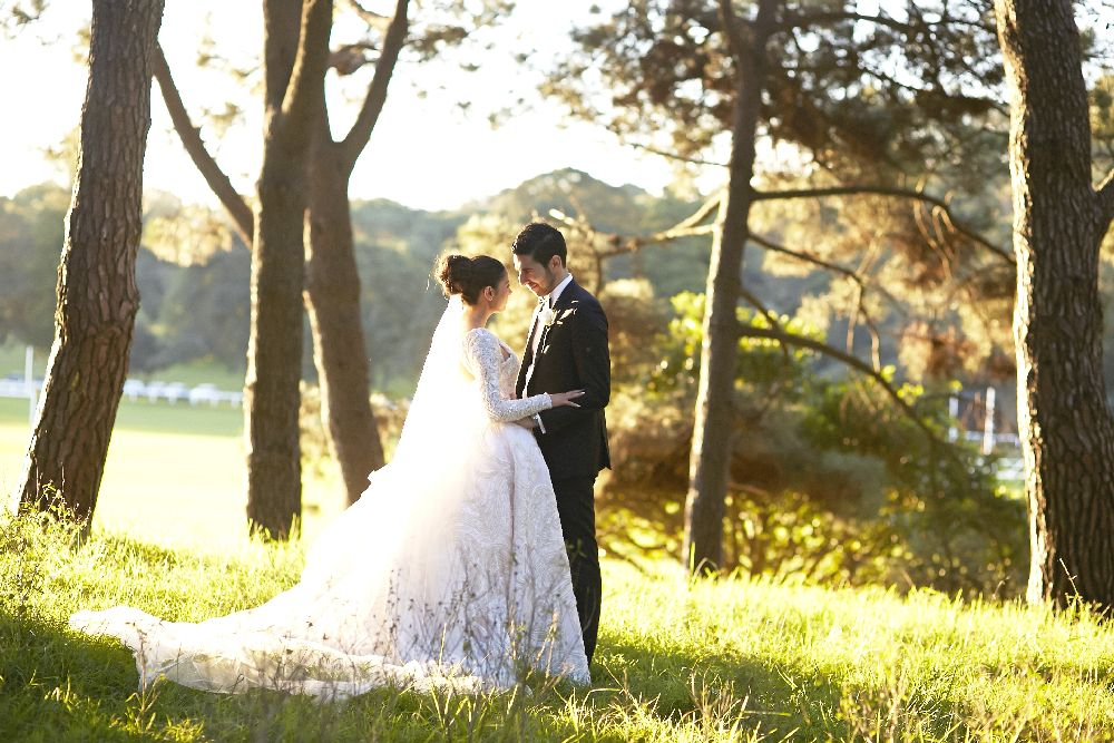 J'Aton wedding dress for an elegant,classic and timeless wedding in Sydney