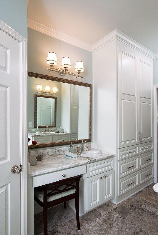 makeup area -   15 makeup Vanity with sink ideas