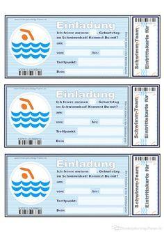 Perfekt Einladung Fürs Schwimmbad. Einladung KindergeburtstagKindergeburtstag ...