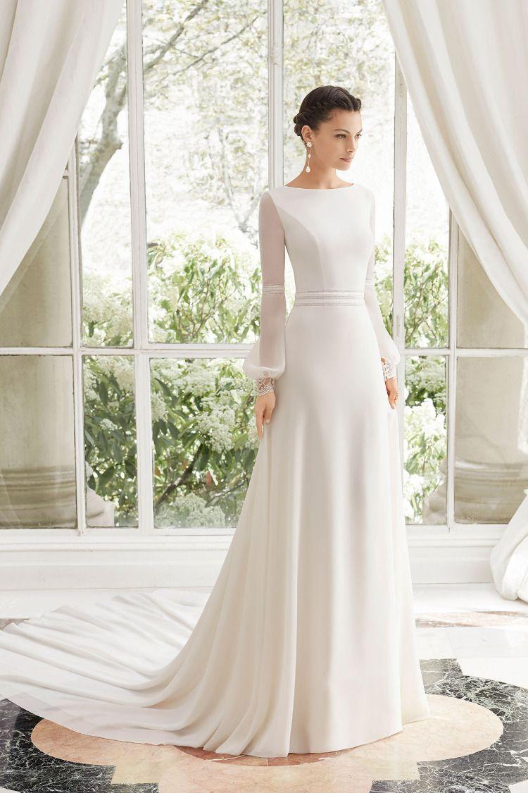 Manila Modest Wedding Dresses Plain Wedding Dress Long Sleeve Wedding Dress Simple [ 1125 x 750 Pixel ]