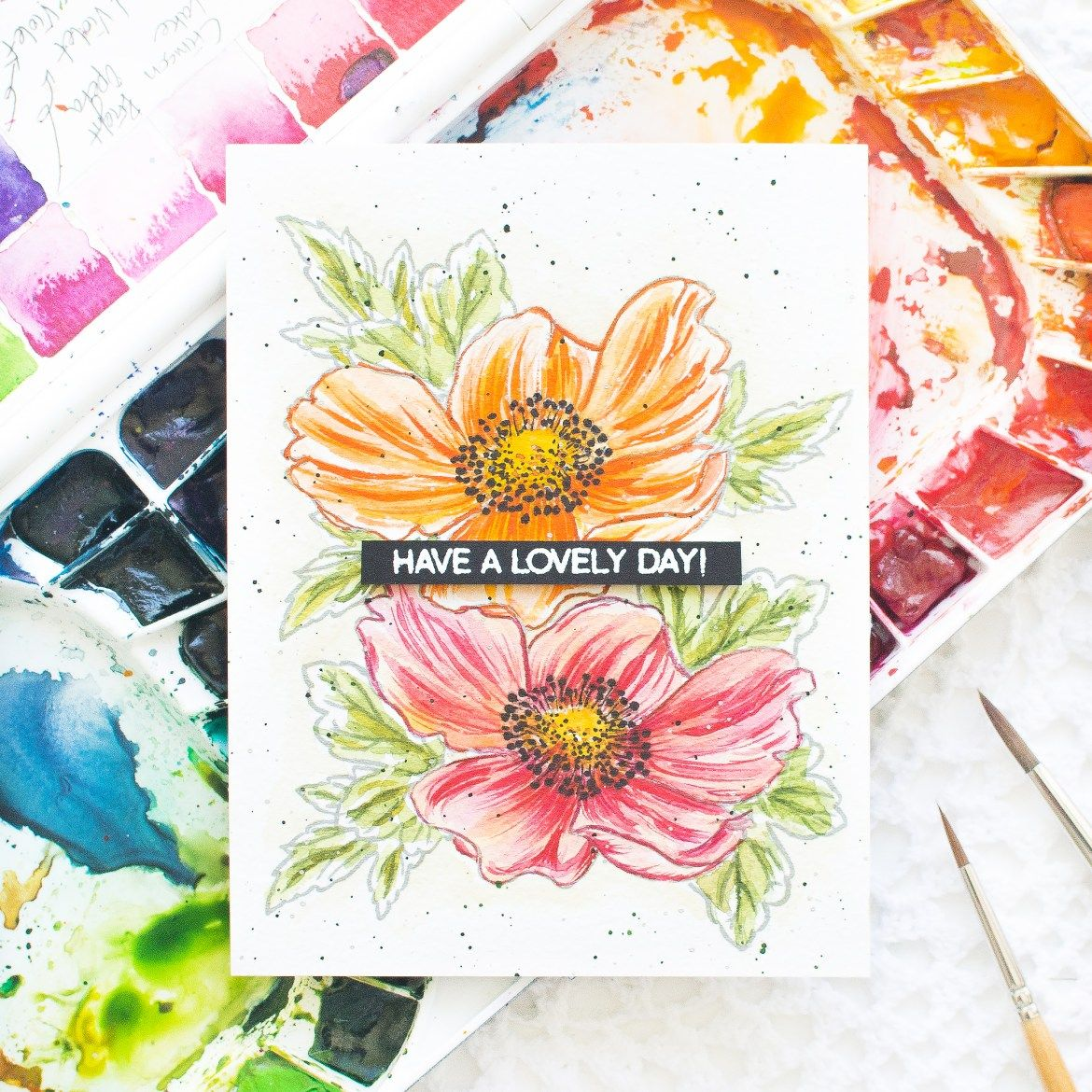 How To Video Anemone Watercolor Card W Mijello Mission Gold