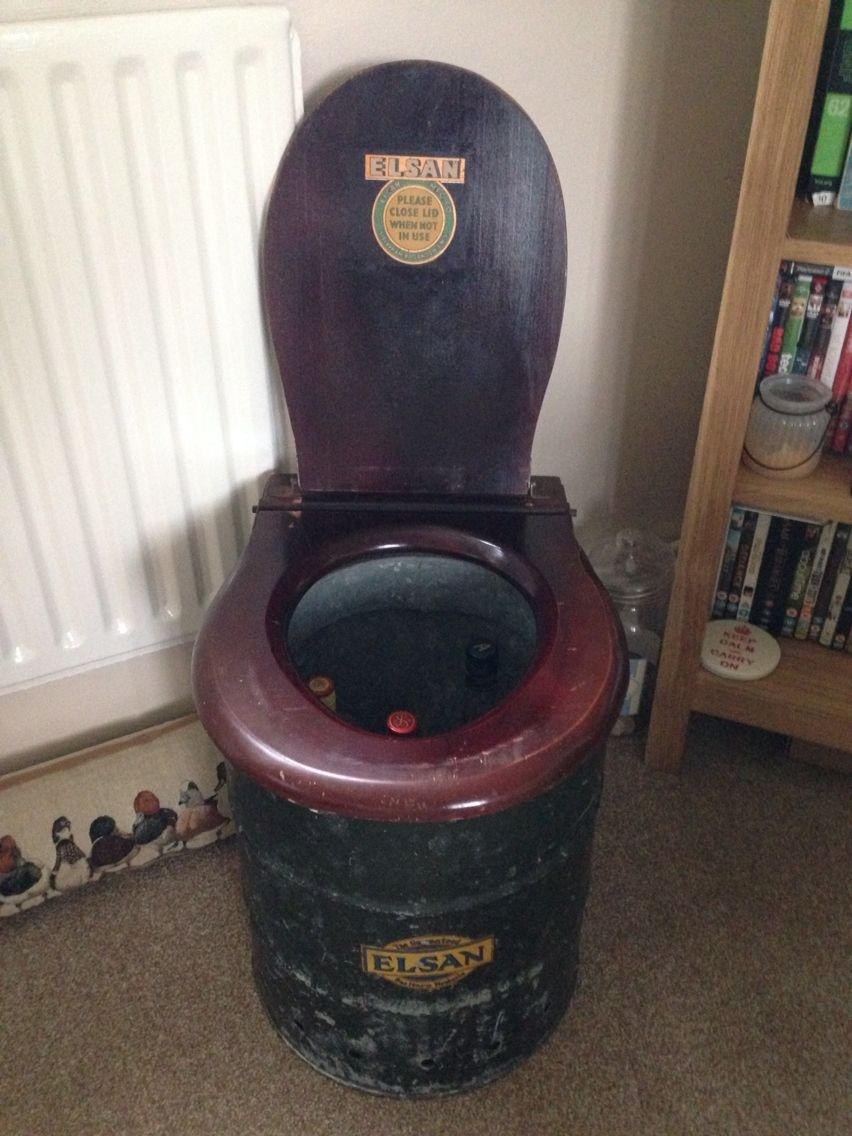 Elsan Toilet Being Used As A Drinks Storage Unit My