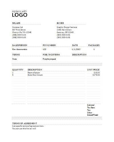 Commercial Invoice Template Invoice Templates Pinterest - sample commercial invoice