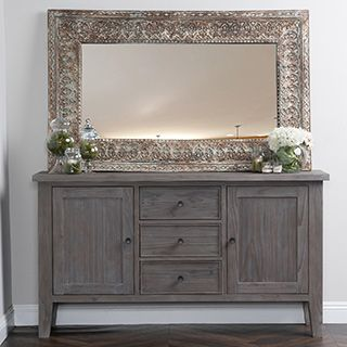 Shutter Large French Gray Sideboard Buffet