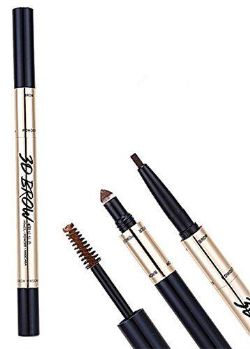 Wehous 3D Waterpoof Eyebrow Makeup Set 3 in 1 Eyebrow Pencil ShadowEyebrow Mascara Dark Brown *** Want additional info? Click on the image.