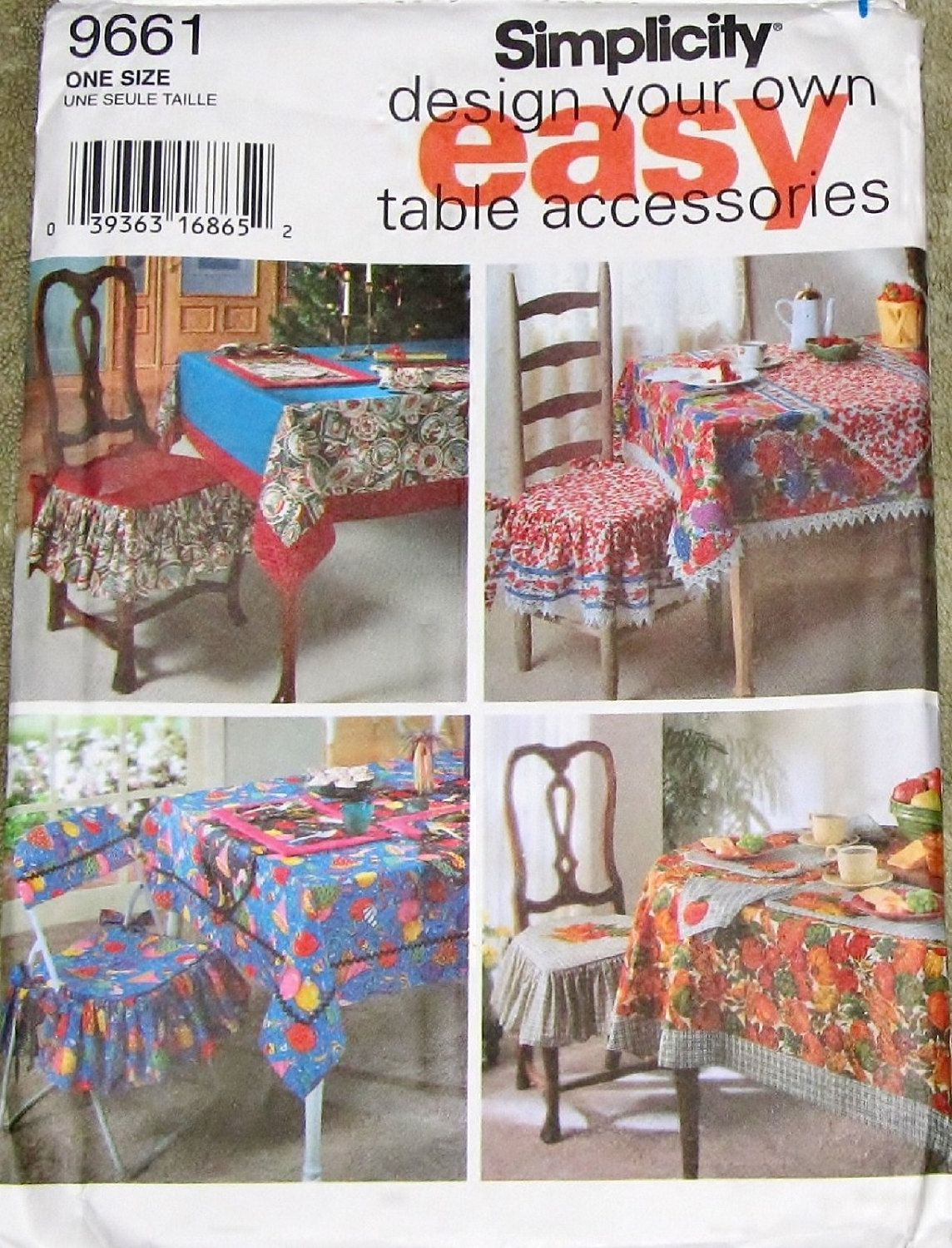 simplicity 9661 design your own table accessories cloth runner mat