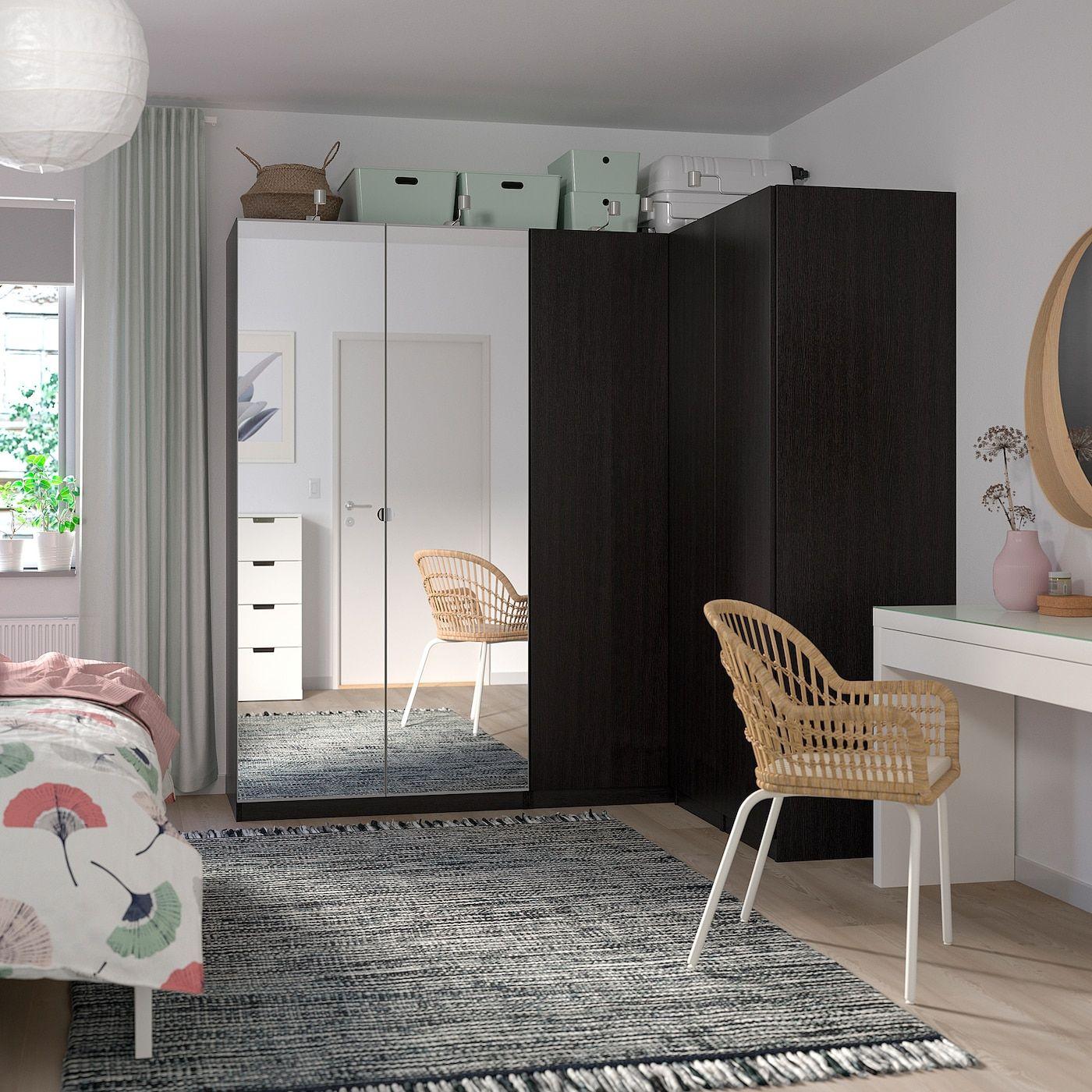 Pax Corner Wardrobe Black Brown Forsand Vikedal 82 3 4 63 1