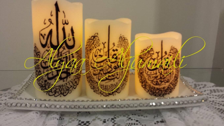 set of electronic candles المعوذات  by Alyaa Aljumaili