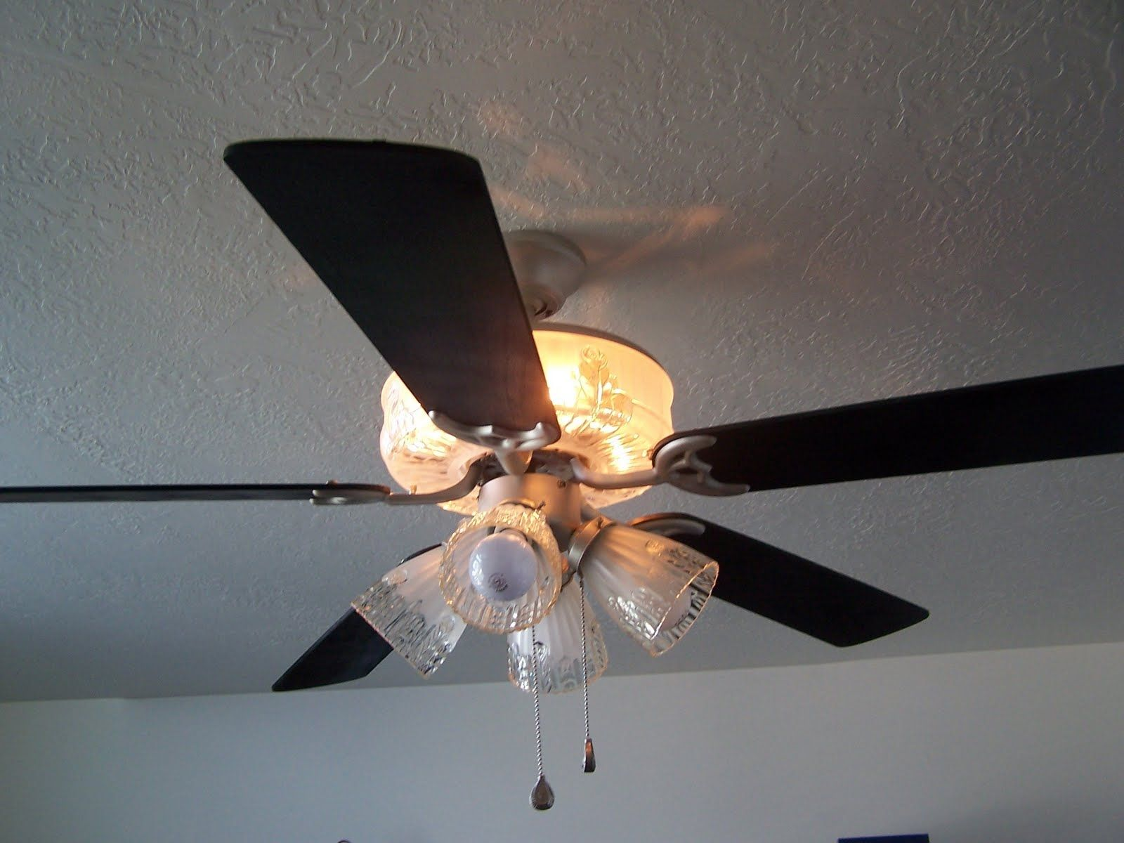 Flush Mount Ceiling Fan With Night Light